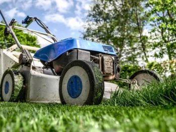 lawn mower starts than dies