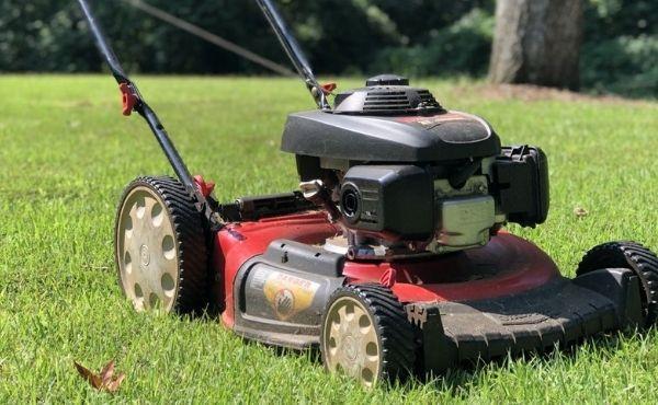 Lawn mower stops running when hot