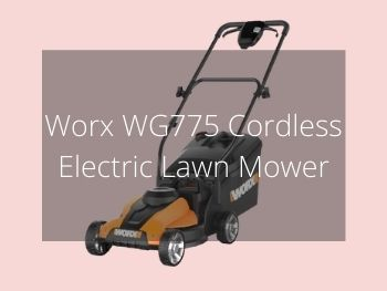 Worx WG775 Cordless Electric Lawn Mower